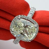 3.85 карат стерлингового серебра 925 Обручальное кольцо ленты для влюбленных женские (ЮСА)