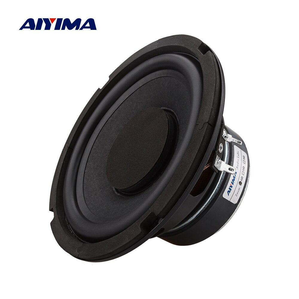 Aiyima 1 pçs 6.5 Polegada subwoofer 4 8 ohm 80 w super baixo woofer alto-falante de cinema em casa para computador estante