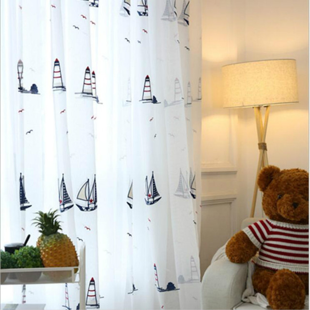 Wunderbar Children U0027s Room Tulle Sheer Curtains,embroidery Screens Of  The Mediterranean Style Baby Room