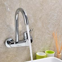 Kitchen In-wall Cold Hot Single Hole Water Sink Faucets Modern Wall Bathroom Clothes Washing Pool Faucet