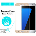 """Clear Front Screen Protector film for Samsung Galaxy S7 5.1"""" Tempered Glass Full Cover 3D Curved Edge screen Protector Film"""