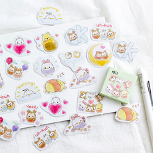 45pcs/pack lovely kawaii cartoon egg baby paper sticker multifunction decoration bubble sticky label gifts for kids