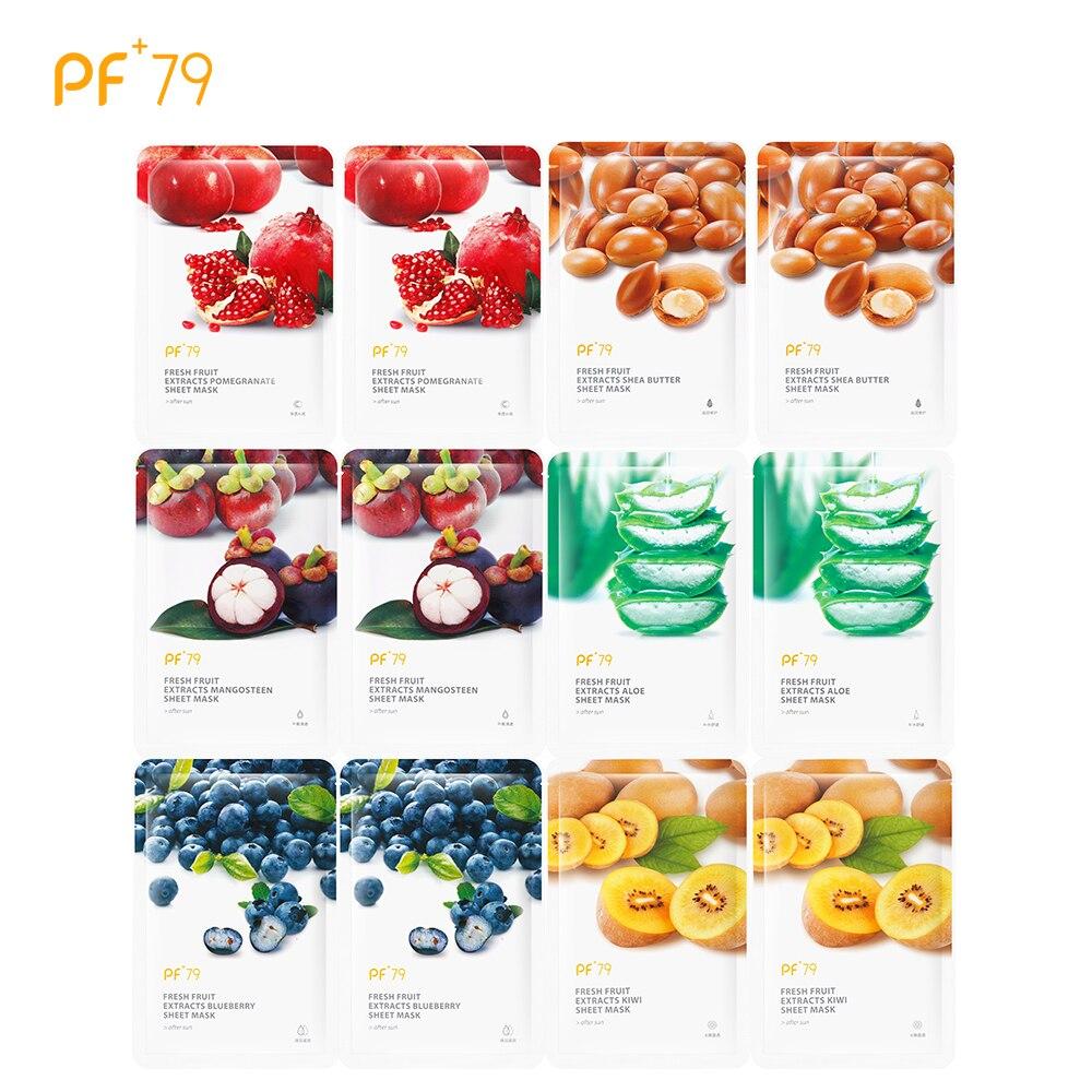 PF79 уход за кожей шесть фруктовая маска для лица Ши мангостина черника гранат киви листа Алоэ Маска на лицо