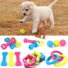 6 Styles Rubber Pet Dog Puppy Healthy Dental Teeth Cleaning Gums Chew Bone Play Training Fetch Fun Toys