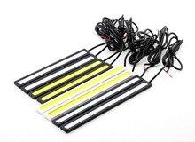 AUTO 2x Super Bright DRL Slim Daytime Driving Running Light Car Fog Lamp car lights auto car styling  car accessories OC 25