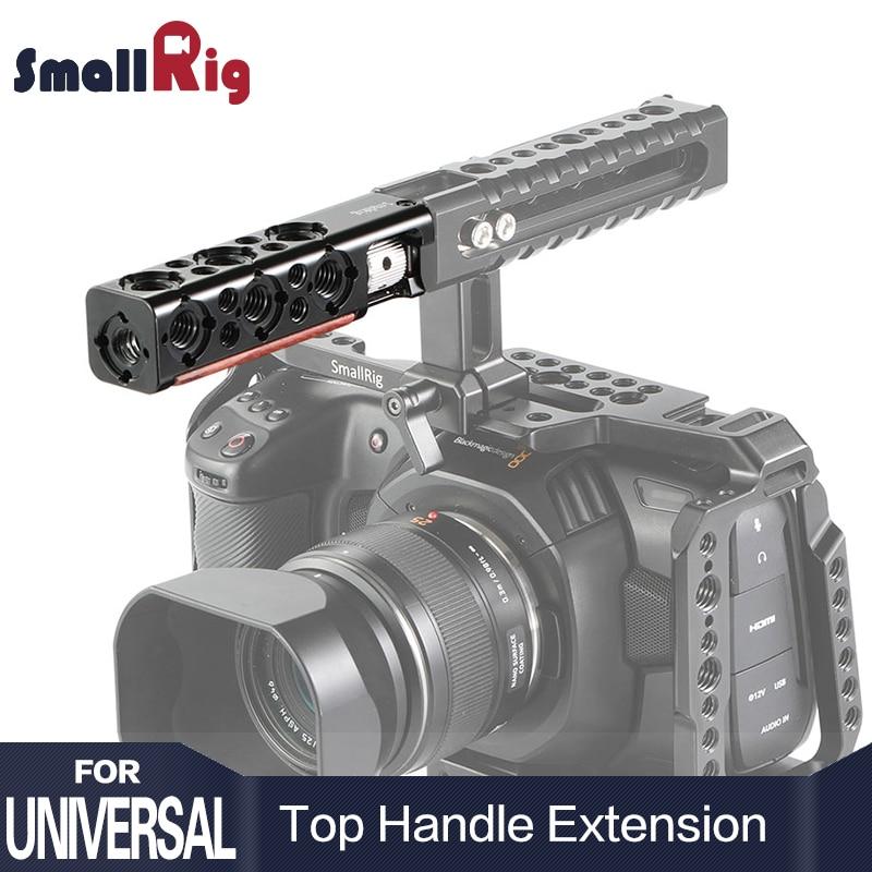 SmallRig DSLR Kamera Käfig Griff Grip Top Griff Gerade Verlängerung Mit 1/4 Gewinde Löcher Und Arri Ortung Löcher HTR2297-in Stativ Einbeinstative aus Verbraucherelektronik bei  Gruppe 1