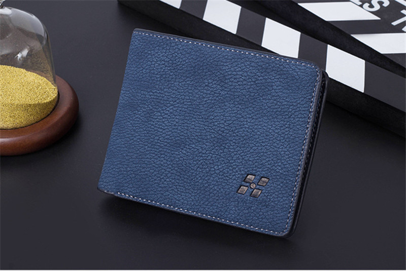 Slim cross-section youth soft wallet high-quality PU genuine Multi-card  student fashion wallet Money Clips