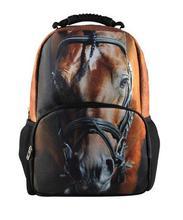 Cool Children 3D Animal Felt Backpack Men s Backpack Crazy Horse Printing font b Bag b