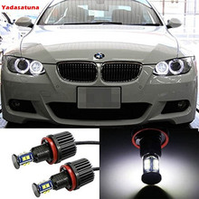 2*80 W H8 Total Branco 6000 K LED Angel Eyes o Halo Anel Marcador Lâmpadas Dos Faróis para BMW E90 E92 E93 E60 E61 E70 E71 E82 E89 X5 X6 ect