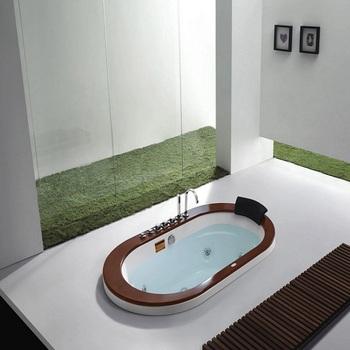 1 8 metr owalne hydro wanna do masażu dla 2 osób wanna (M-2038) tanie i dobre opinie Wolnostojące Akrylowe W zestawie Combo masaż (air whirlpool) Rogu WHITE CE ISO9001 CQC RoHS ETL Reach ISO9001 SAA