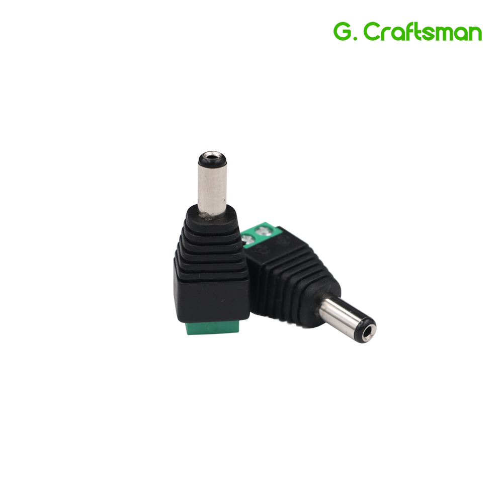 DC Jack Power Male Plug Adapter 5.5*2.1 DC Jack Crimp Type Connector CCTV Camera Socket Accessories Security B31 G.Craftsman