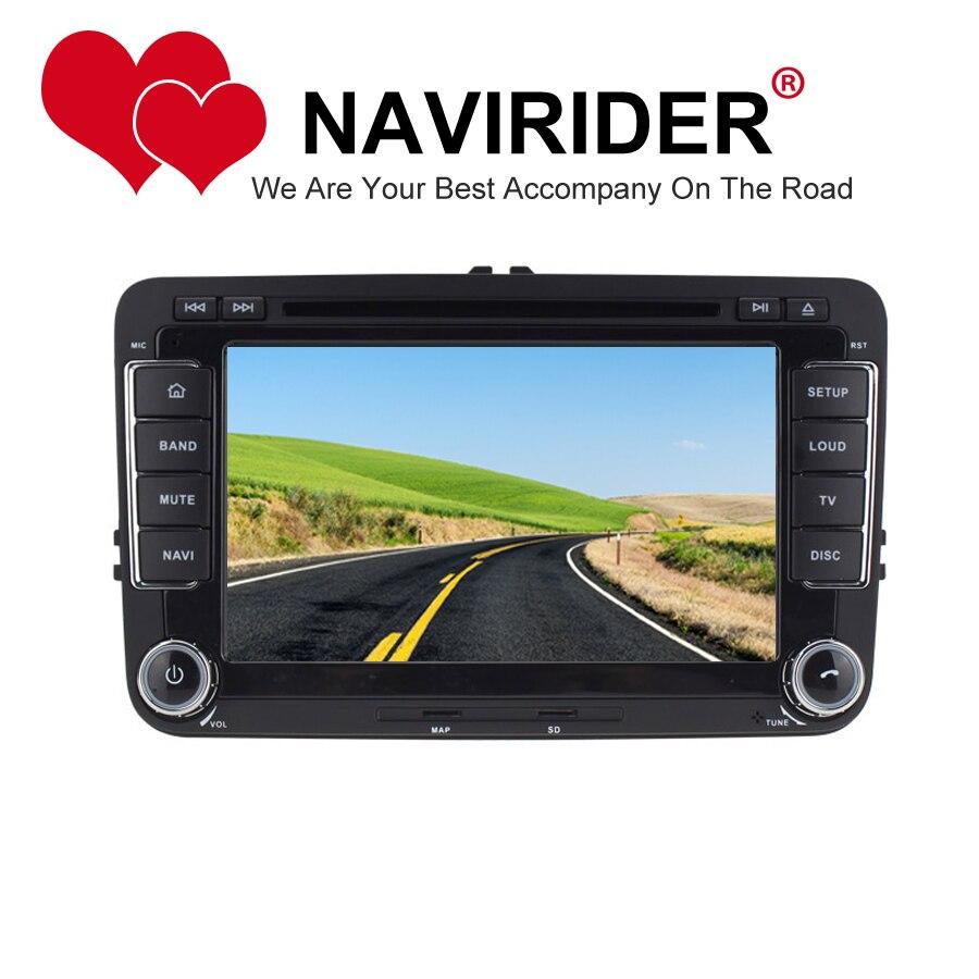 Dvd de voiture adapté pour Scirocco Golf 5 (MK5) Golf 6 (MK6) Polo Passat B6 Passat CC Tiguan Touran GPS android 8.1.0 unité de tête