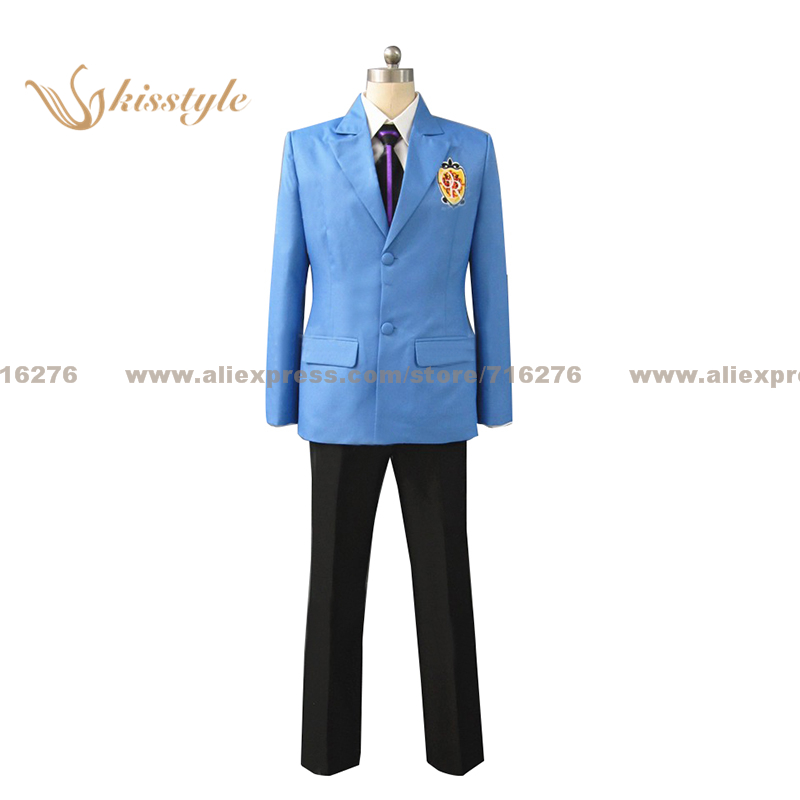 Kisstyle Fashion Ouran High School Host Club Boy School Blue Uniform COS Clothing Cosplay Costume,Customized Accepted