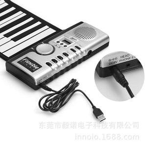 Новая 61-клавишная силиконовая клавиатура для пианино, 128 видов функции tone MIDI, могут быть напрямую подключены к компьютеру, 2020