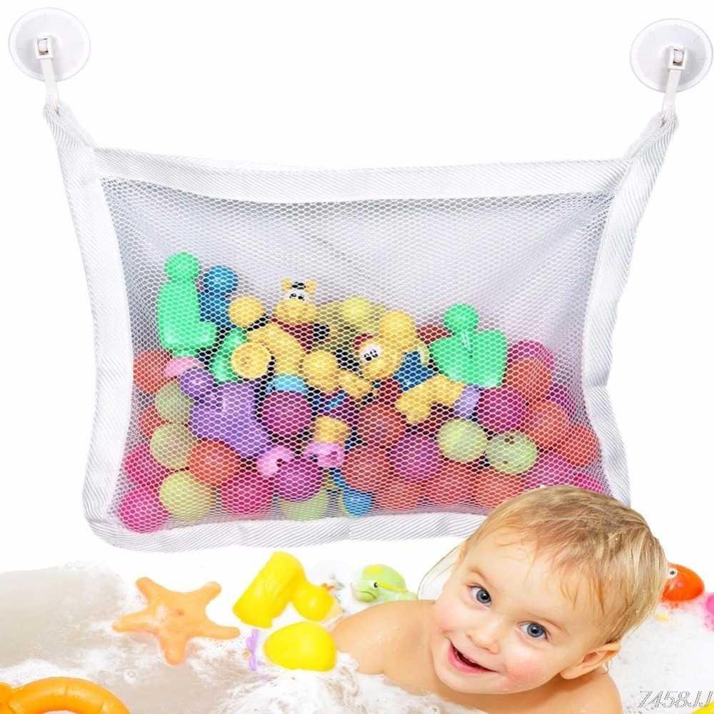 Melhor 1 pc Cestas De Armazenamento para a Hora do Banho Rede De Brinquedo Da Criança Do Bebê Da Criança Brinquedos Coisas Cestos De Armazenamento Tidy Organizador Net