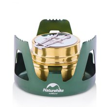 Naturehike Outdoor Camping Stove Titanium Alcohol With Rack Set Mini Ultralight Burners with Cross Stand