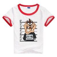 Girls Tops Tees Boys T Shirts Summer Cartoon Children Clothes Kids Short Sleeve Shirts Brand Vestidos