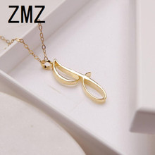 hot deal buy zmz 2018 europe/us fashion english letter pendant lovely letter j text necklace gift for mom/girlfriend party jewelry