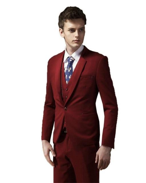 Wedding Suits For Men Burgundy Tuxedo Jacket Groom Tuxedo Wedding