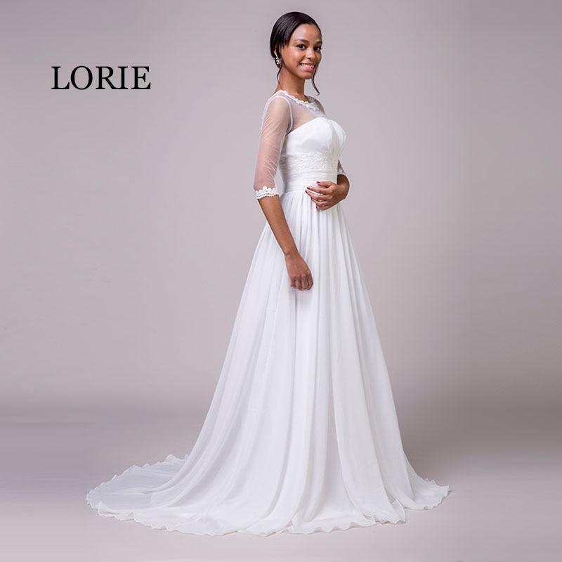 LORIE Φορέματα νυφικά με μανίκια Scoop A-line - Γαμήλια φορέματα - Φωτογραφία 4