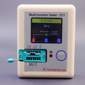 Image 2 - Rosyjski wielofunkcyjny TC1 Tester próbnik elektroniczny trioda dioda TFT miernik pojemności wskaźnika pokrycia wypływów netto ESR NPN PNP MOSFET IR Tester
