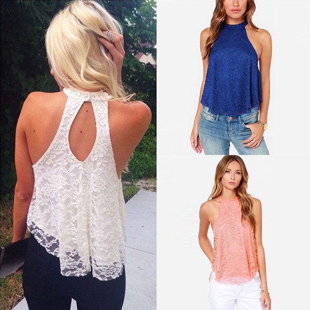 Casual Lace Crop Top