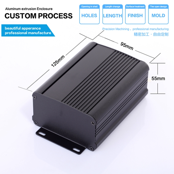 YGS-006-95*55*120/3.74''*2.17''*4.72''(wxhxl)mm aluminium enclosure electric box widely useful free shipping 1piece lot top quality 100% aluminium material waterproof ip67 standard aluminium electric box 188 120 78mm