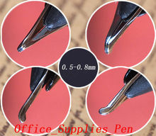 4Pcs Fountain Pen Nibs 0.5-0.8mm Bent Nib For Wing Sung 618 601 613
