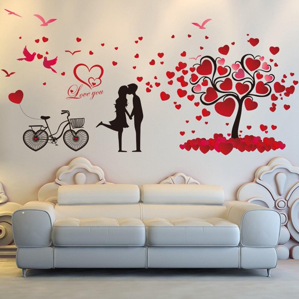 O Envio Gratuito De Amor Rom Ntico Rvore Aves Casal Bicicleta