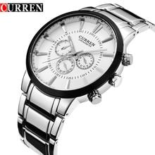 Мужские кварцевые часы, Модный Топ бренд, роскошные CURREN, мужские повседневные спортивные наручные часы с хронографом, мужские нарядные часы, Relogio Masculino