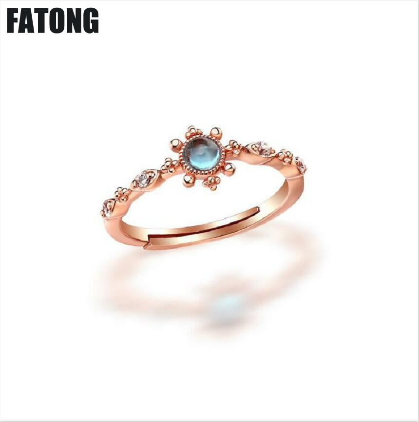 The Cheapest Price 925 Sterling Silver Blue Topaz Vintage Ring Womens Silver Wholesale J018 Rings Fine Jewelry