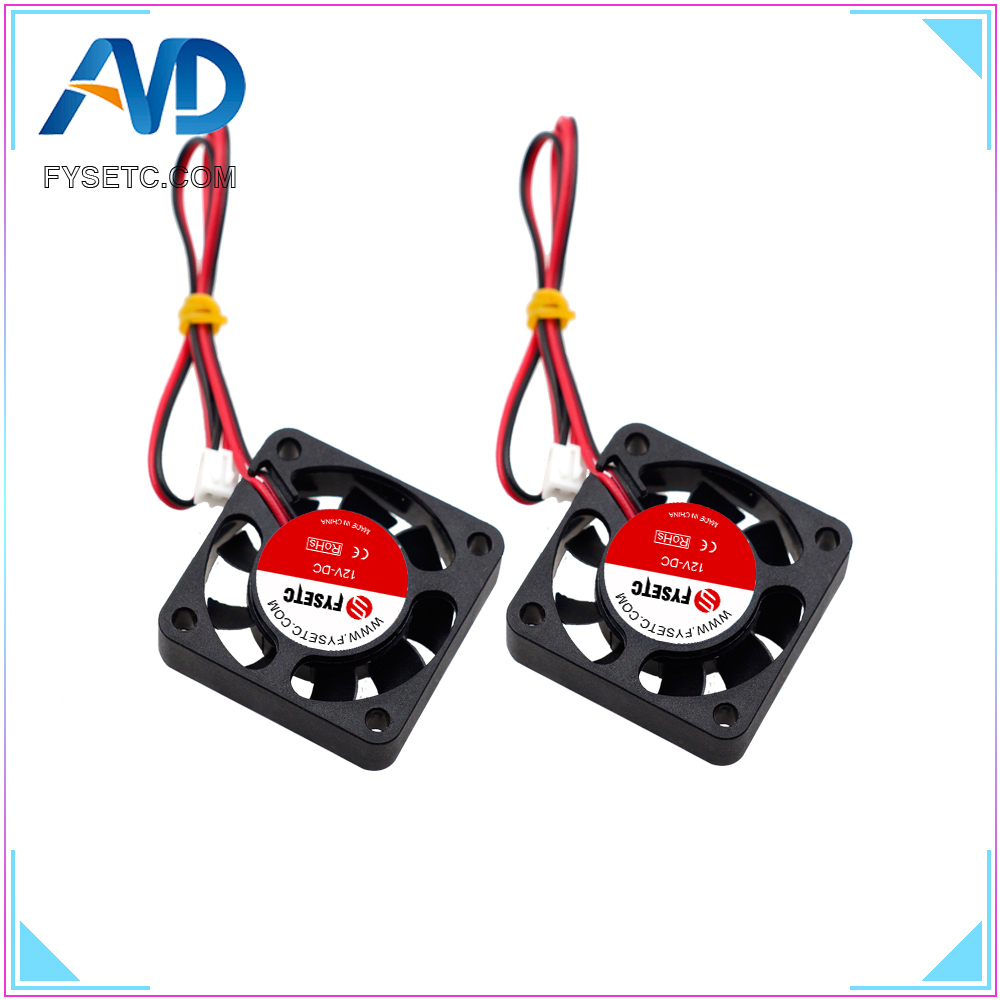 5pcs 4010 Cooling Fan 12V 2 Pin With Dupont Wire Brushless 40*40*10 Cool Fans Cooler Radiato For Anet A8 A6 3D Printers Parts