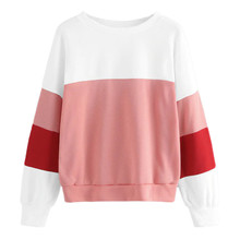 2019 Womens Casual Pullover Tops Autumn Winter Sweatshirts Women's Long Sleeve Plus Velvet O-Neck Sweatshirt цена и фото
