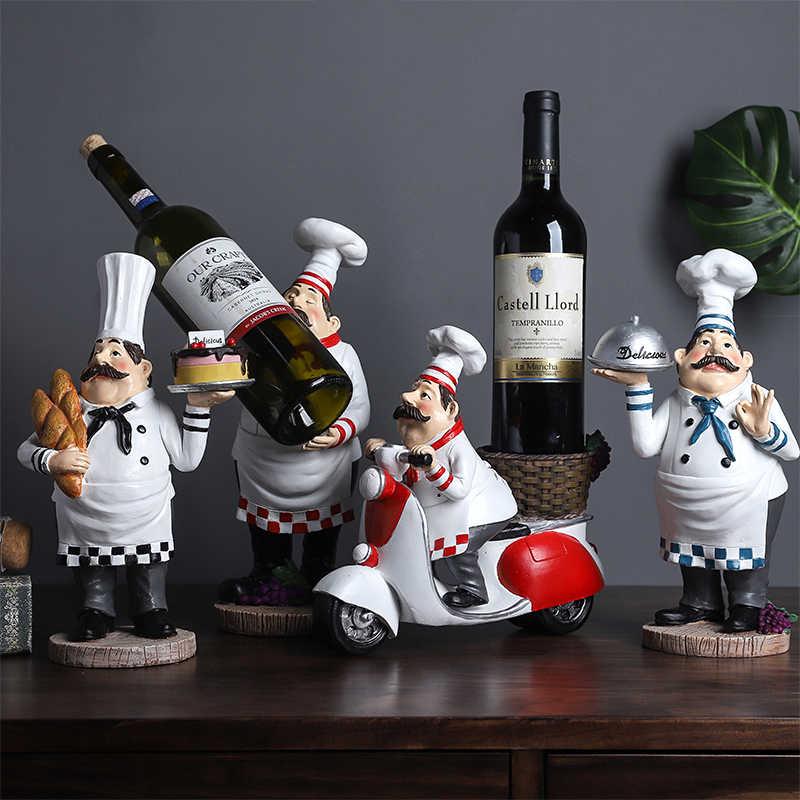 Европейский винный шкаф для ресторана шеф повара маленькие украшения дома