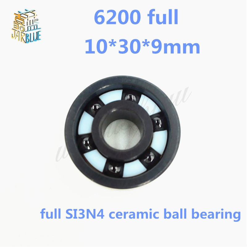 Free shipping 6200 full SI3N4 ceramic deep groove ball bearing 10x30x9mm for bike part bicycle bearings 10*30*9mm free shipping 6200 full zro2 ceramic deep groove ball bearing 10x30x9mm p5 abec5