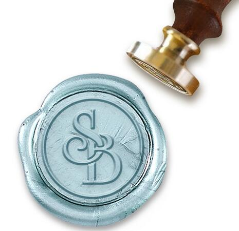 Personalized Initials Intertwined Monogram Wax Seal Stamp 1 Round Die Univ Roman Side By In Stamps From Home Garden On Aliexpress