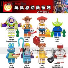 Ghosterbuster Stay Puft Toys Story 4 ET Woody forky Alien Buzz light year woody stitch Gaby baby Building blocks Gift kids toys(China)