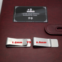 FREE personalized wedding gifts for bridesma gold clip and silver money to custom free with your logo/email/phone 20pcs