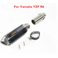 R6 Motorcycle Exhaust Muffler Mid Link Pipe Stainless Steel Pipe Slip On YZF R6 For Yamaha 2006 2016