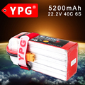 Ypg 22.2 v 5200 mah 40c 6 s lipo batería para los multi-rotores/trex 600-700 helicóptero/aviones fed
