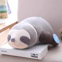 1pc Soft Simulation New Arrival Cute Stuffed Sloth Toy Plush Sloths Soft Toy Animals Plushie Doll Pillow for Kids Birthday Gift