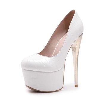 Lasyarrow 16 cm fino Tacones altos Zapatos mujer redonda dedo del pie  mujeres Zapatos 5 cm plataforma partido boda Zapatos sexy zapatos femeninos  rm246 1fc849132a72