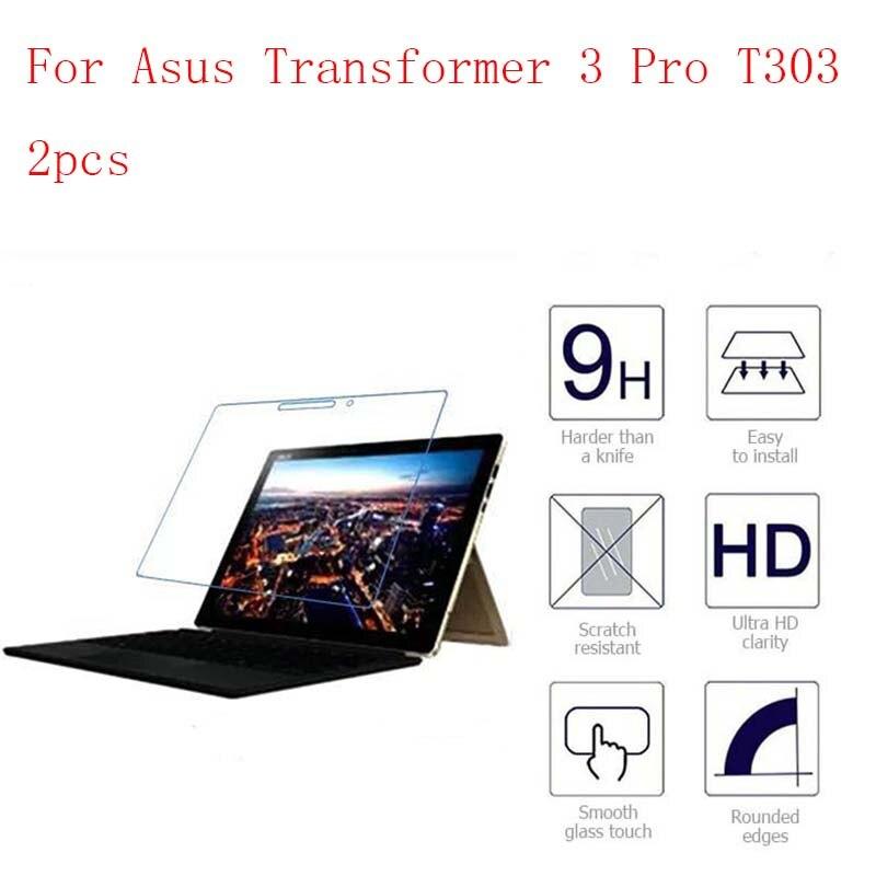 Für Asus Transformator 3 Pro T303 Tablet 9 H Hd Klar Gehärtetem Glas Screen Protector Film Bildschirm Schutz 2 Stücke In 1 Paket
