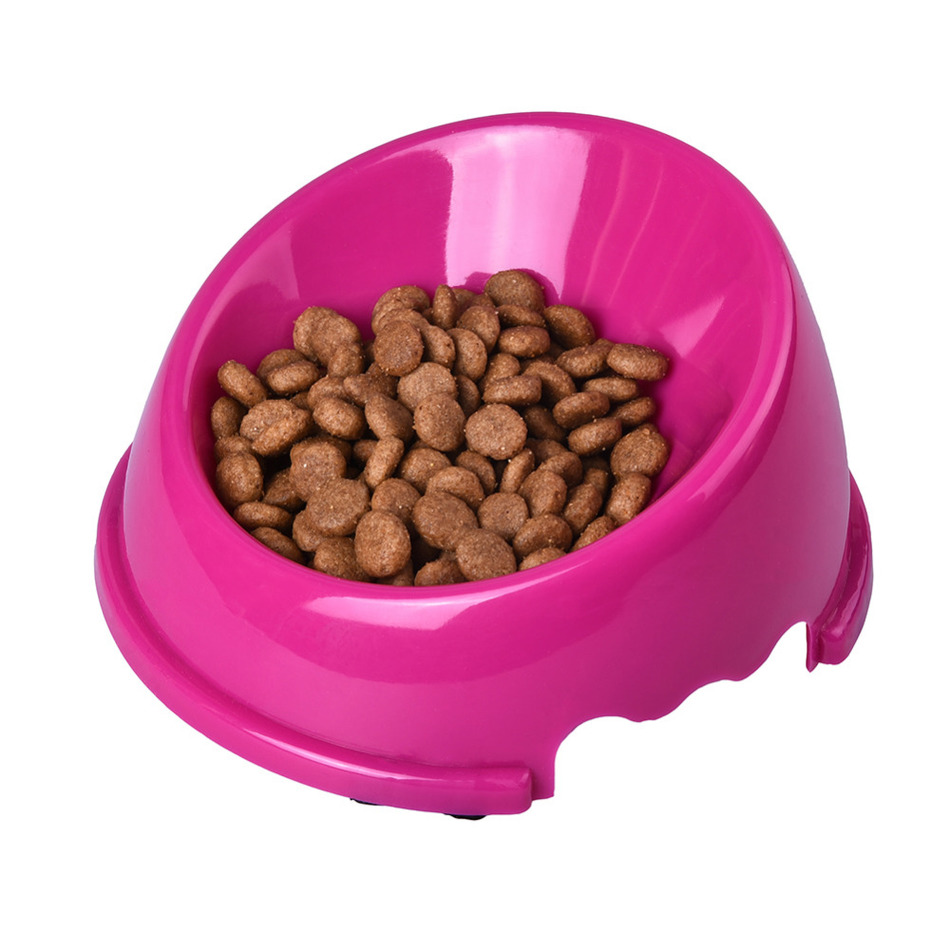 1 unids 14 * 14 * 3.5 cm Boca Oblicua Antideslizante Pet Dog Cat Food - Productos animales - foto 5