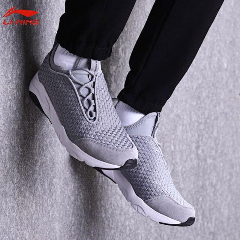 Li-ning hommes MARS chaussures de marche classiques Textile respirant baskets léger doux Fitness confort doublure chaussures de Sport AGLN017 YXB136 - 3