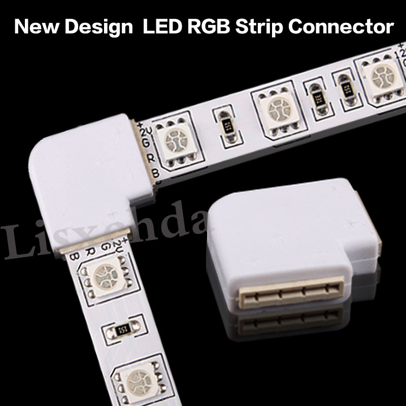 4 pin LED Connector For connecting corner right angle 10mm 5050