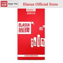 ELASUN 10 PCS Stimulation Ultra Thin Pleasure Condoms Safer Sex Fun Type Natural Latex Rubber Condom