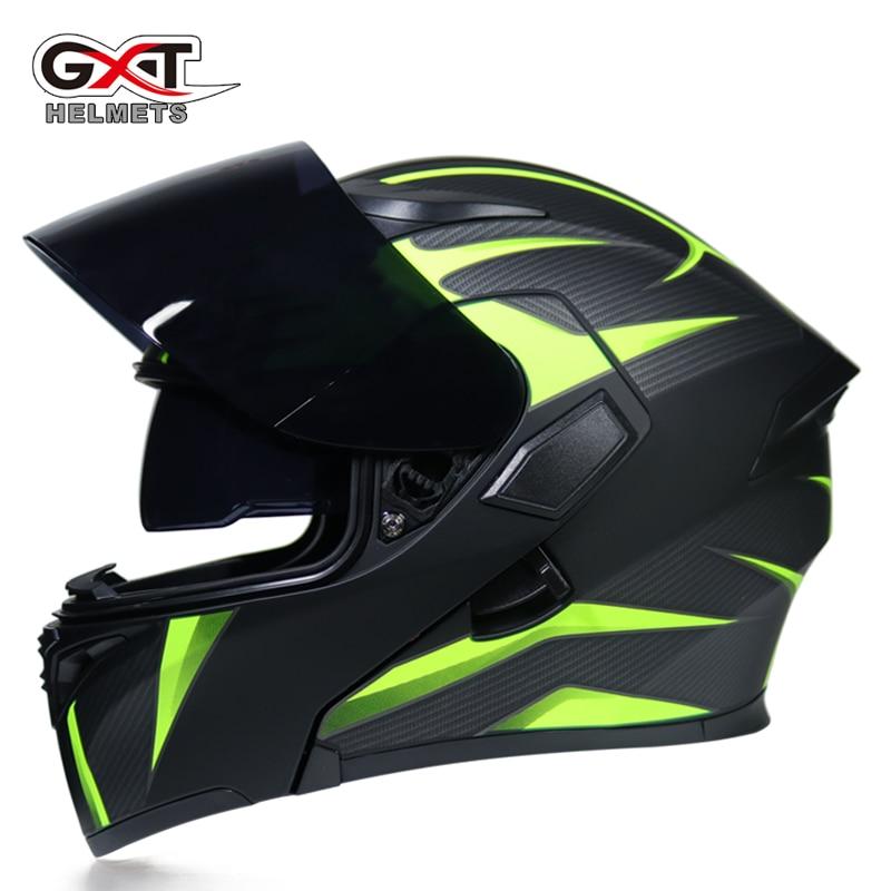 Hot sale GXT 902 Motorcycle Flip Up Helmet Modular casque moto cycling helmets black Sun Visor