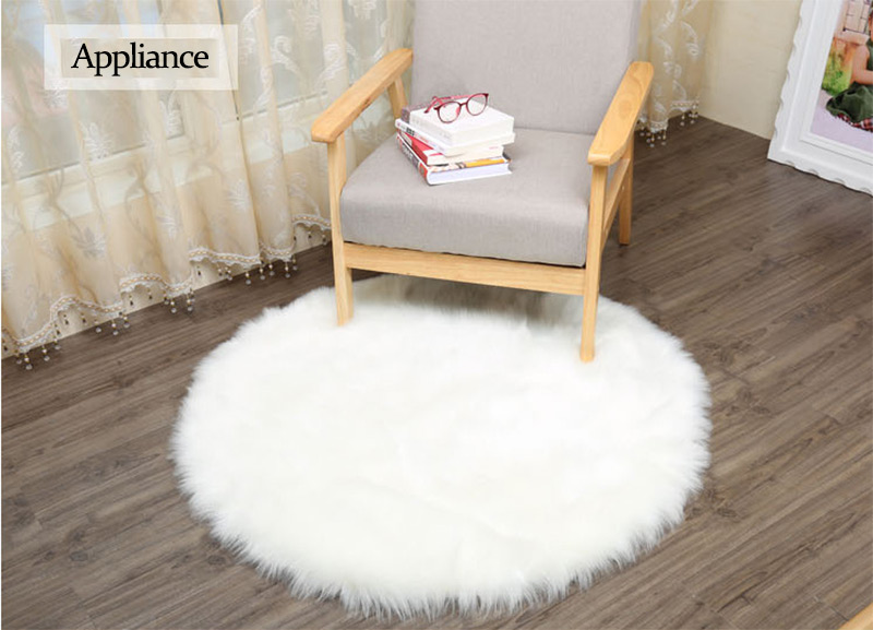 INS Style Soft Artificial Sheepskin Rug Chair Cover Bedroom Mat Artificial Wool Warm Hairy Carpet Seat Home Floor Pad