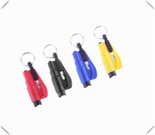 Car Keychain Mini Safety Hammer Lifesaving Escape Personality Wear for Chevrolet Cobalt Celta West Uplander Cavalier Astra(China)